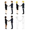 Business Woman and Man Hand Shake vector image vector image