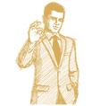 businessman OK vector image vector image