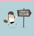 businesswoman with financial freedom vector image vector image