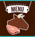 butchery menu vector image