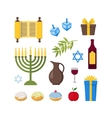 Cartoon Hanukkah Set vector image vector image