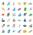 company icons set isometric style vector image vector image