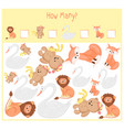 counting game for preschool children a vector image vector image
