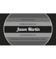 Creative grey business card vector image vector image