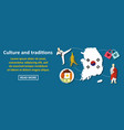 culture and traditions korea banner horizontal vector image vector image