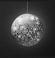 disco ball mirror sphere soffit reflection vector image vector image