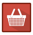 emblem basket shop icon vector image
