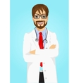 experienced male doctor posing vector image vector image