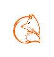 fox unique logo design vector image vector image