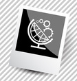 globe and gears vector image vector image
