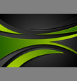 green and black abstract wavy corporate background vector image vector image