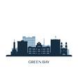 green bay skyline monochrome silhouette vector image vector image