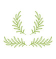 green olive and laurel branches wreath divider vector image vector image