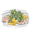 Hand drawn salad sketch Food