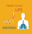 health is your life poster vector image vector image