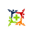 health together logo design template vector image vector image