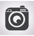 hipster camera photo icon vector image