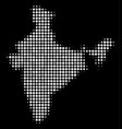 india map mosaic of small spheres vector image