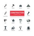 industrial concept construction - line design vector image vector image
