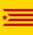informal flag of catalan lands red estelada vector image