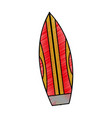 isolated surfboard design vector image vector image