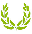 laurel wreath green leaves icon sign symbol vector image
