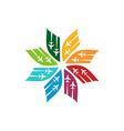 Logo Star Flit away Travel Plane vector image