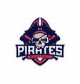 modern professional emblem pirates for baseball vector image