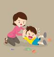 mother handle angry boy