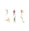 people doing different kind sports set male vector image vector image