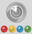 radar icon sign Symbol on five flat buttons vector image vector image