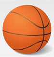 Realistic Basketball eps 8 vector image