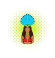 Samba girl icon comics style vector image vector image