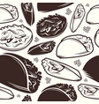 seamless pattern of mexican food vector image vector image
