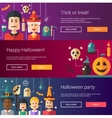 Set of Halloween flat design modern vector image