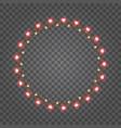 shiny hearts light bulbs isolated on transparent vector image