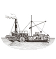 ship logo design template steamboat or vector image