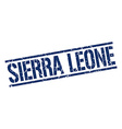 Sierra Leone blue square stamp vector image vector image