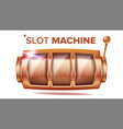 slot machine bronze lucky empty slot vector image vector image