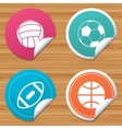 Sport balls Volleyball Basketball Soccer vector image vector image
