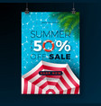 summer sale poster design template with float vector image vector image