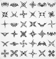 Tattoo Shape Elements vector image vector image