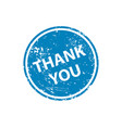 thank you stamp texture rubber cliche imprint web vector image