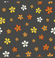 trendy ditsy flower colorful blossoms on a gray vector image vector image
