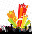 urban design and star decoration vector image vector image