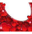 Valentine hearts background vector image