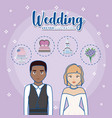 wedding concept design vector image