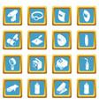 welding tools icons set sapphirine square vector image vector image