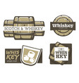 whiskey and scotch factory isolated icons factory vector image vector image