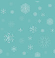 winter snowflakes seamless vector image